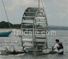 Tredalo launching in shallow waters
